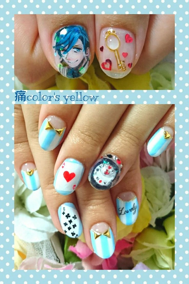 Character Design Nail Art : Best character nail art images on pinterest