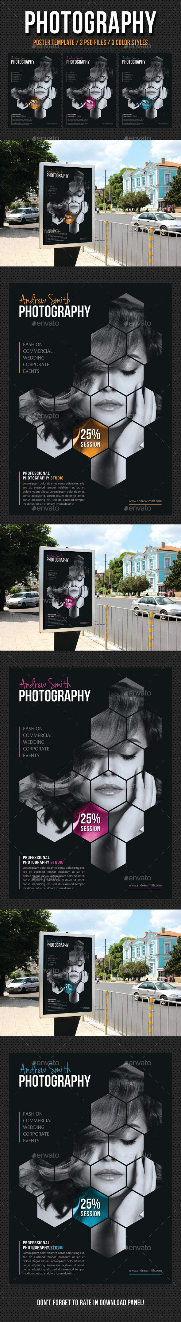 Photography Poster Template PSD. Download here: http://graphicriver.net/item/photography-poster-template-v04/13409992?ref=ksioks