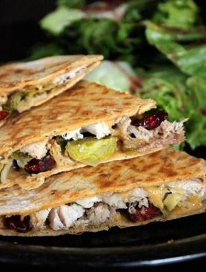 Leftover Turkey Quesadilla with Cranberries and Gouda   GreenLiteBites ...