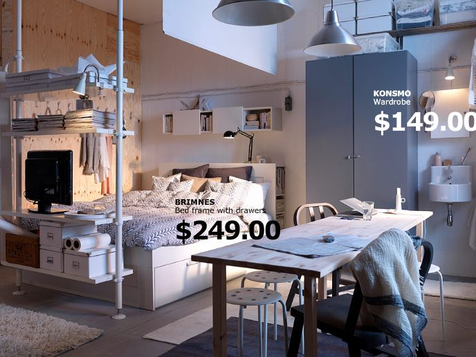 IKEA Studio Apartment Ideas | Studio apartment, anyone??