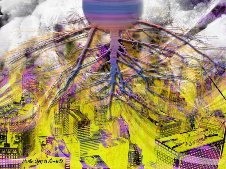 Título: Tormenta  Técnica: Dibujo 3D - Fotomontaje  Dimensiones: Ancho 36cm - Alto 27cm  Año de realización: 2010