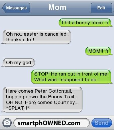 Parents with texting... a whole new way to scar your children. Fantastic!