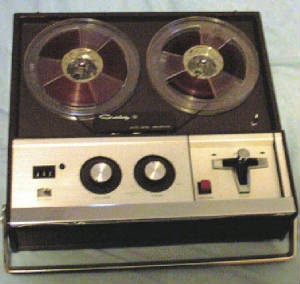 Reel to Reel tape recorder. Thought I had it made when I got one of these!