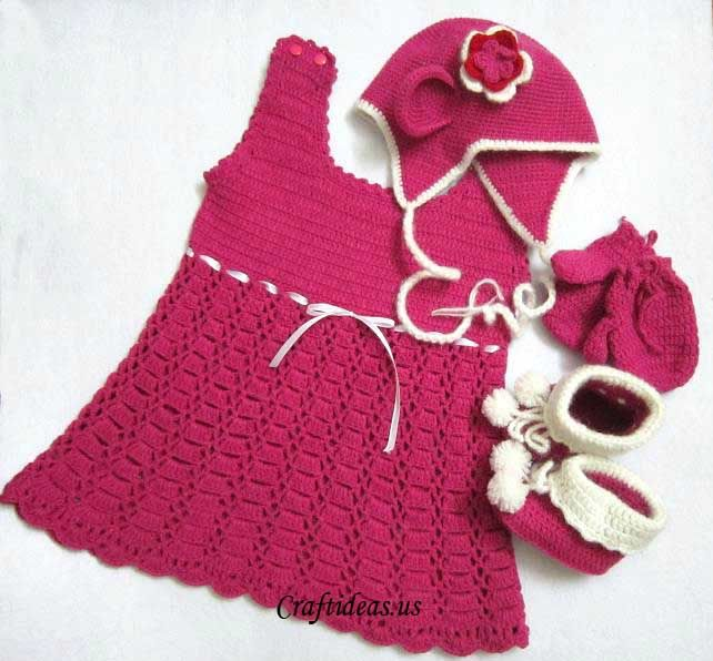 crochet baby set Free pattern. Thank you!