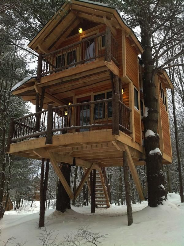 Fancy Tree house Cabin  at Moose Meadow Lodge Vermont