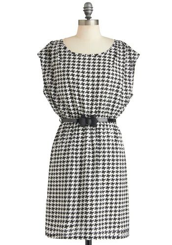 Moment of Houndstooth Dress, #ModCloth