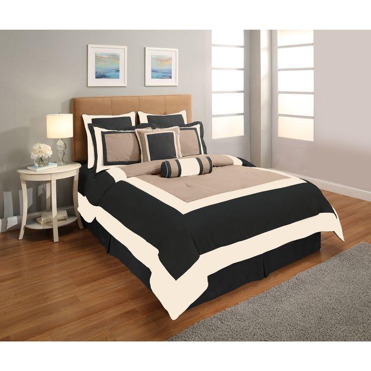 Super Hotel 8-piece Queen Size Comforter Set in
