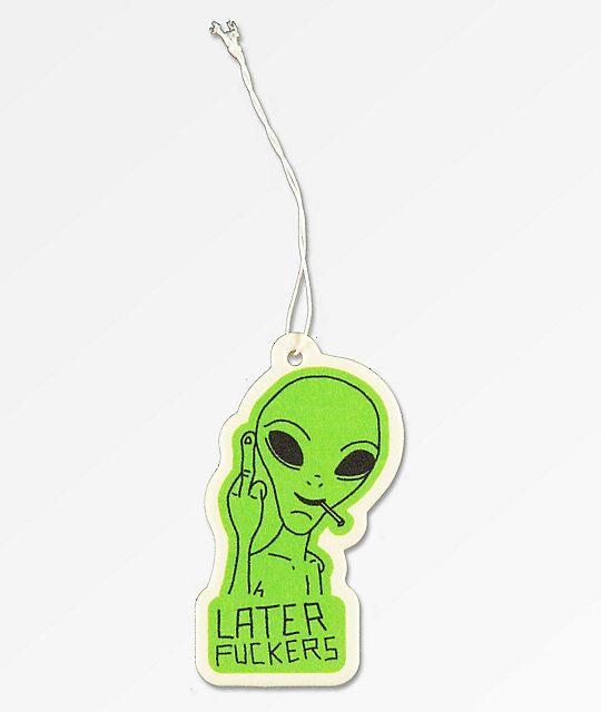 fcf24ccecb461 Stickie Bandits Later Alien Air Freshener | Car Wants | Cute car air ...