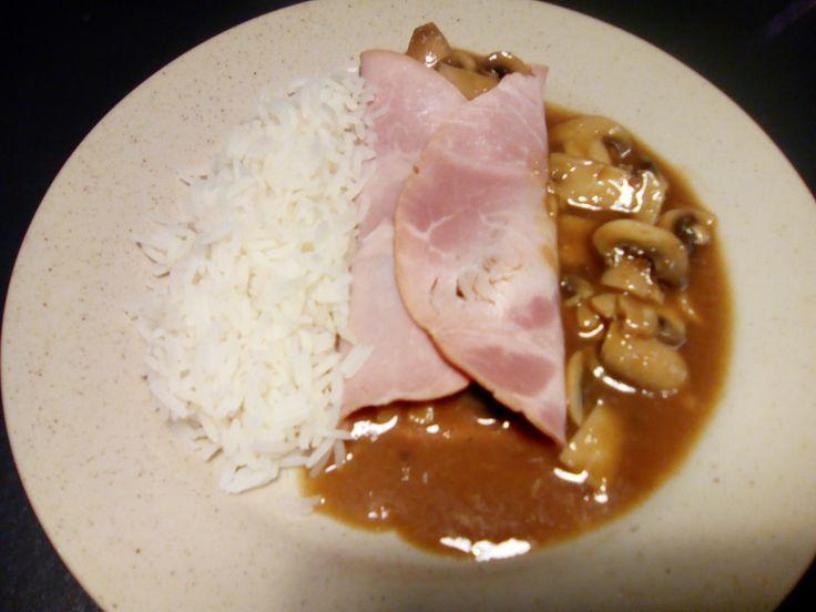 Jambon sauce madère aux champignons au cookéo