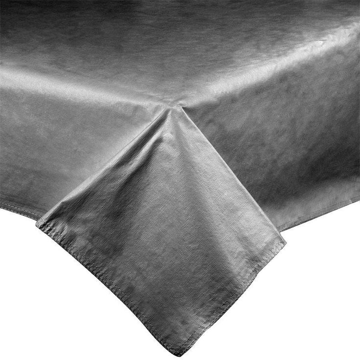 "52"" x 72"" Black Vinyl Table Cover with Flannel Back"