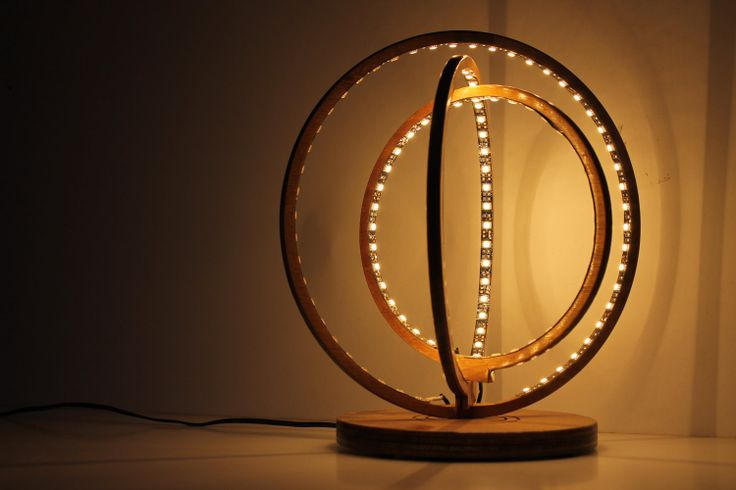 lamp desk sol lamp low voltage led GALILEO Italian Desing table wooden. $397.00, via Etsy.