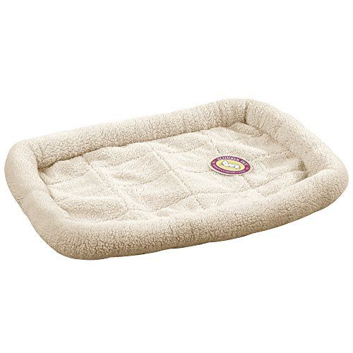 Slumber Pet Sherpa Crate Beds  -  Comfortable Bumper-Style Beds for Dogs and Cats - Medium/Large, Natural Beige - http://www.bunnybits.org/slumber-pet-sherpa-crate-beds-comfortable-bumper-style-beds-for-dogs-and-cats-mediumlarge-natural-beige/