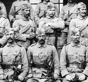 """Boer War """"Rough Riders"""" of New Zealand - image probably taken in 1904 - the…"""