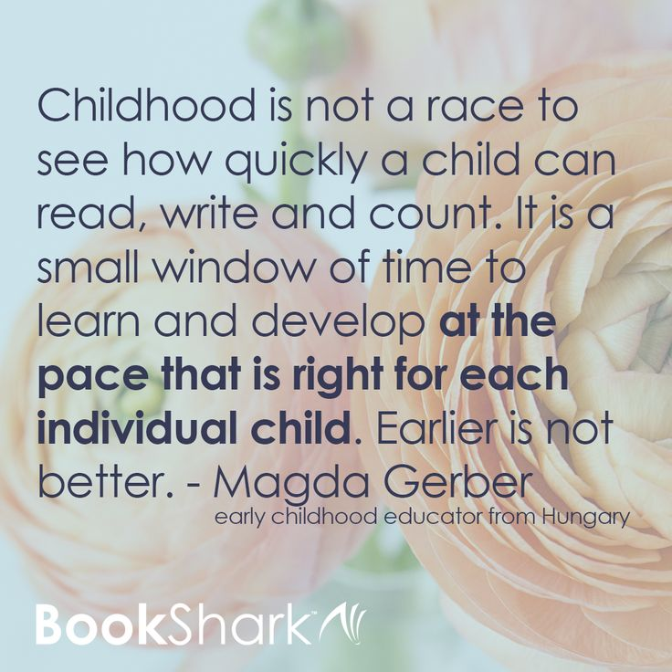 "Public school often feels like a race. By homeschooling, we can get off that race track and move at a natural pace, enjoying learning and savoring our family relationships.   ""Childhood is not a race to see how quickly a child can read, write and count. I"