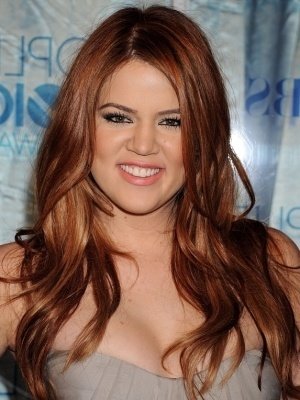 Khloe kardashian red  ginger  brown hair