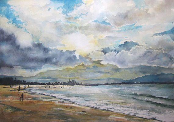 Byron Bay  Original Watercolour Painting  42.0cm H by AustraliaArt
