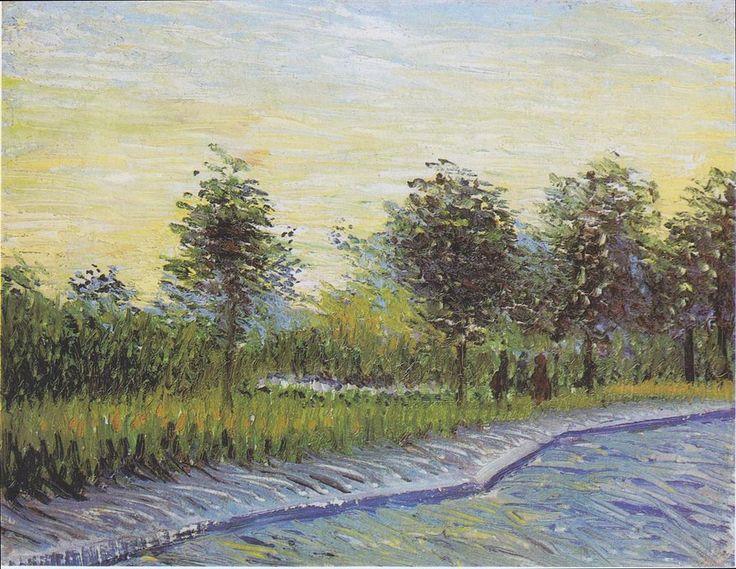 Way in the Voyer d'Argenson Park in Asnieres - Vincent van Gogh, 1887