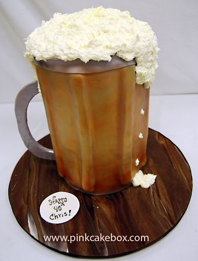 Beer Mug Cake: Beer Birthday Cakes, Cakes Ideas, Birthday Parties, Beer Cakes, Cakes Boxes, Beer Mugs Cakes, Man Cakes, Cakes Beer Mugs, Grooms Cakes