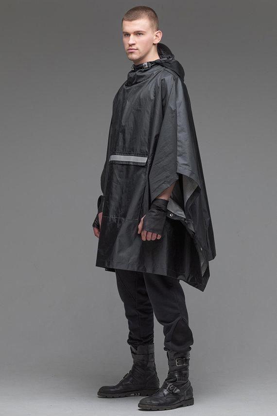Minimalist Jacket Jacket Overcoat Black Poncho Hooded Cape Women Overcoat Black Hooded Coat Warm Coat Cape Coat Steampunk Coat