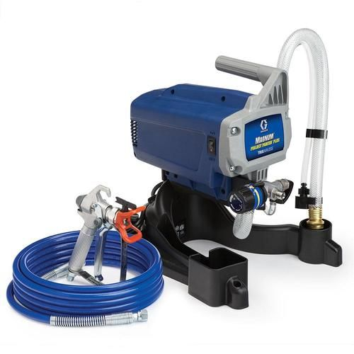 Graco Magnum Project Painter Plus Electric Stationary Airless Paint Sprayer At Lowe S Whether You 8217 Re A Hobbyis With Images Best Paint Sprayer Paint Sprayer Sprayers