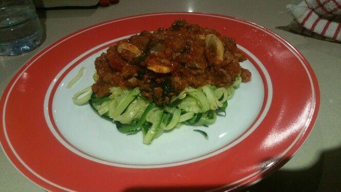 Beef & Veg Spag Bowl with Zucchini Spirals