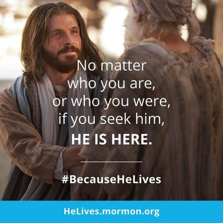 An example of one of the memes that can be shared with others during the BecauseHeLives Easter campaign. (IRI)