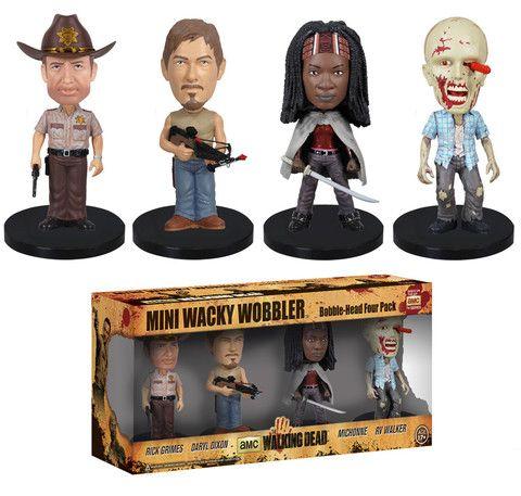 Mini Wacky Wobbler Set: The Walking Dead | Funko