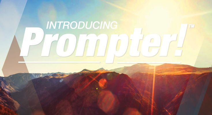 Check out Prompter!™: It only takes 3 minutes to create a better life. And it's FREE! Visit www.prompter.ca for details.