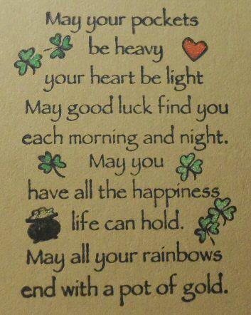 St. Patrick's Card (Inside)