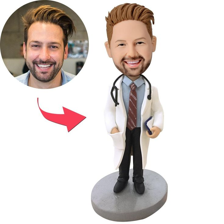 Doctor With Stethoscope Custom Bobblehead | Personalized ...