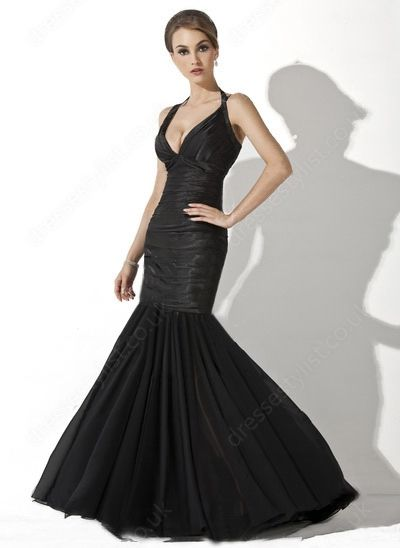 Black Split Front Prom Dress Shop uk