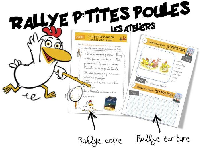 Ateliers p'tites poules : copie, écriture , jeux