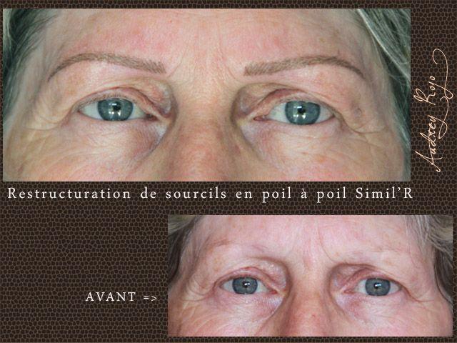 Les 25 meilleures id es de la cat gorie sourcils fins sur pinterest formes de sourcils brosse - Maquillage permanent sourcils poil a poil ...