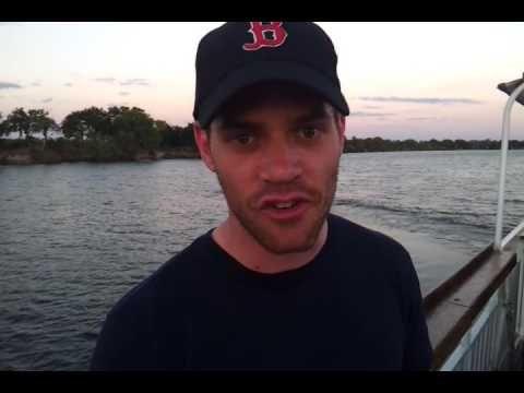 USA Client visiting Vic Falls - Sunset Cruise Zambezi River