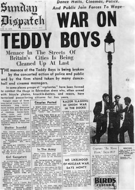 Moral panic 1950s