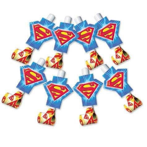 Superman Party Supplies Blowouts - 8 Count