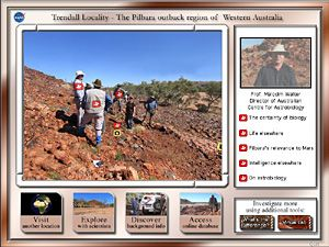 NASA Virtual Field Trip that explores and compares Earth and Mars and explores pre-algebra topics of measurement, unit conversion, ratio/proportion, scale, data analysis and data representation