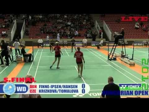 Yonex 37th Hungarian Int. 2012 WD semifinal DEN vs CZE