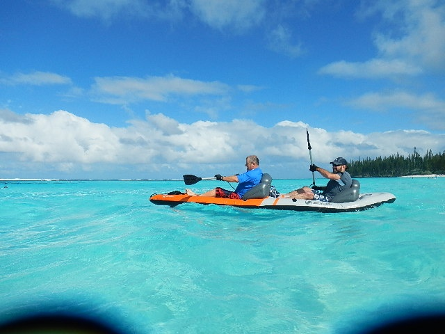 Mare Island, New Caledonia. We took our inflatable kayak on the cruise, it was great.