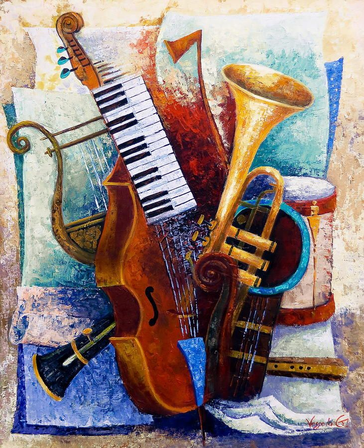 67 best images about Artwork: Musical Instruments on ...