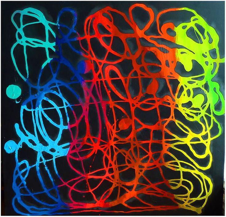 Artstrait, 36 X 36, acrylique, François Coulombe