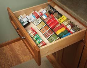 Cute idea!: Spices Storage, Storage Solutions, Spices Racks, Organizations Spices, Cabinets Organizations, Spices Organizations, Kitchens Storage, Pantries Storage, Kitchens Organizations