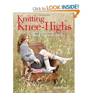 I bought this book for my trip!  Late nights knitting in the hotel = very exotic.  Only downside to awesome knitted socks is that after the excitement of knitting the first sock, the second one will really seem like a chore.  Anyway, I also plan to buy some boots to wear with the knitted knee-highs!