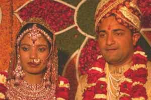 An Indian Bride and Groom