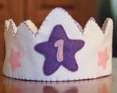 Custom Felt Birthday Crown -Choose the number for your  special day