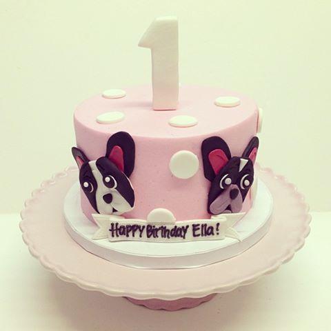 French Bulldog Birthday CAKE!