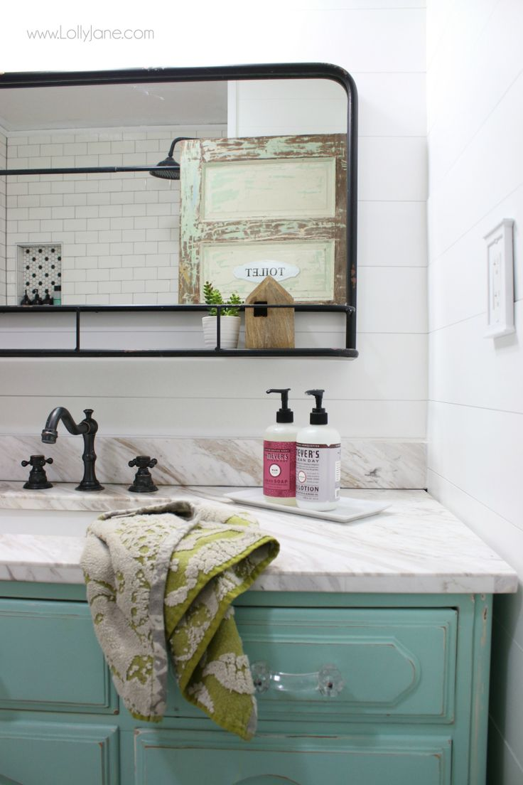 Farmhouse Bathroom Remodel Sources Lolly Jane Diy Bathroom Decor Bathroom Addition Bathrooms Remodel [ 1104 x 736 Pixel ]