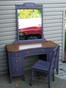 Purple Vanity.  They say this is the HOTT color for this year!   www.countrystyleaccents.com