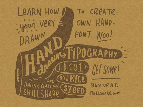 Kyle Steed Hand Drawn Typography Class Now Open – Hand Lettering Tutorial