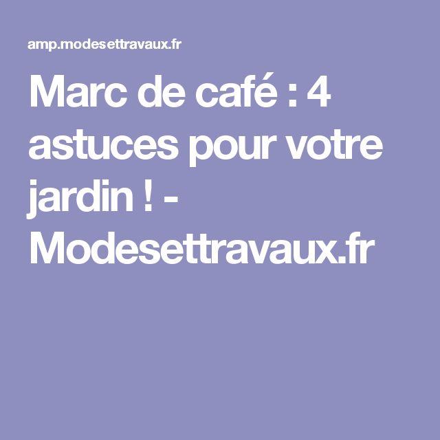 Marc de café : 4 astuces pour votre jardin ! - Modesettravaux.fr